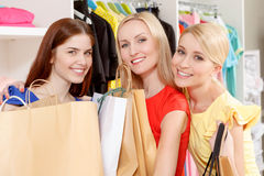 Female shoppers in a store Royalty Free Stock Photo