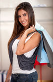 Female shopping Royalty Free Stock Photos