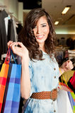 Female shopping bags Royalty Free Stock Images