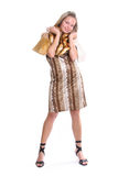 Female with shopping bags Royalty Free Stock Photos