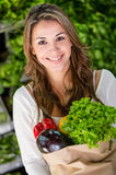 Female shopping organic Royalty Free Stock Photography