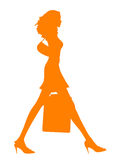 Female Shopping silhouette Stock Photo