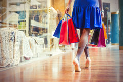 Female shopping Stock Photography