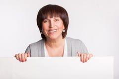 Female showing blank Royalty Free Stock Image