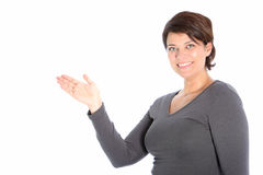 Female showing her palm Royalty Free Stock Image