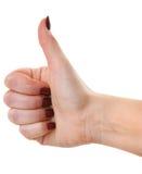 Female showing ok sign Stock Image