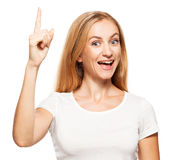 Female showing thumbs up Stock Photography