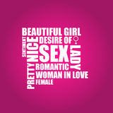 Female sign background Stock Photo