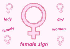 Female sign Royalty Free Stock Image