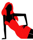 Female silhouette Royalty Free Stock Images