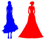 Female silhouette Stock Image