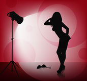Female silhouette Royalty Free Stock Photography