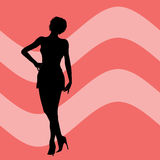 Female silhouette vector illustration