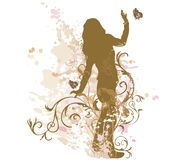 Female silhouette Stock Images