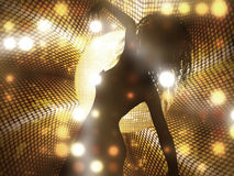 Dancing female silhouette Royalty Free Stock Photos