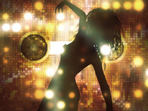 Dancing female silhouette Royalty Free Stock Photography
