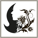 Female silhouette.  images and emblems or spa and beauty salons Royalty Free Stock Photo