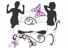 Female silhouettes Royalty Free Stock Image