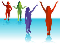 Female Silhouettes Royalty Free Stock Photo