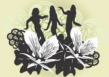 Female silhouettes Royalty Free Stock Photos