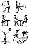 Female silhouettes Stock Image