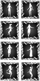 Female silhouettes set Stock Photo