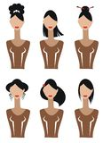 Female silhouettes Royalty Free Stock Images