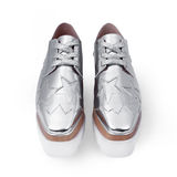 Female silver shoes Royalty Free Stock Photo