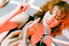 Female singer Stock Photos
