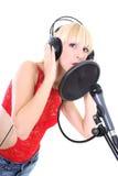 Female singer Royalty Free Stock Photos
