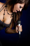 Female Singer Royalty Free Stock Photography
