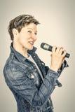 Female singer Stock Images