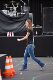 Female singer Christina Stuermer Royalty Free Stock Images