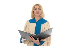 Female Singer in Church Choir Landscape royalty free stock photo