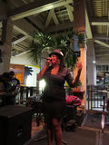 Female singer from Guidance Band sings on stage at Mai Tai Bar Stock Images