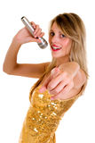 Female singer microphone Stock Photography