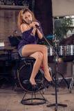 Female singer Royalty Free Stock Photo