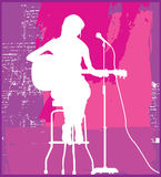 Female Singer On Seat Stock Photography