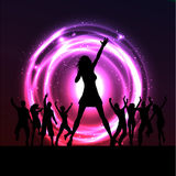 Female singer performing Royalty Free Stock Images