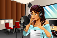 Female Singer Singing Royalty Free Stock Photo