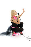 Female singer sitting Stock Photos