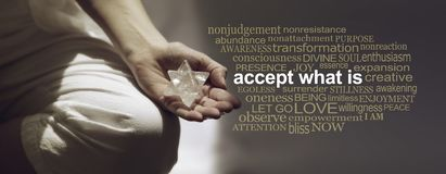 Accept What Is Meditation Word Cloud Banner