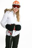 Female in ski clothing Royalty Free Stock Photos