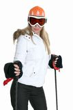 Female Skier Stock Image