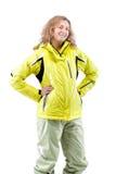 Female skier Royalty Free Stock Image