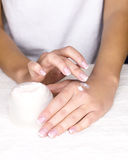 Female skin healing Stock Image