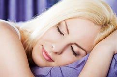 Female sleeping Royalty Free Stock Photos