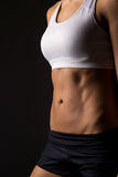 Female slender belly. Stock Photo