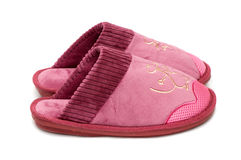 Female slippers Royalty Free Stock Images