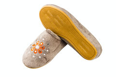 Female slippers Royalty Free Stock Photos